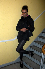 Winter = Dress Cool 4 (Lisa/Anders - Ninja Transvestit Danmark) Tags: highheels legs crossdressing tgirl tranny transvestite heels trans leggings ladyboy strumpfhose transvestit