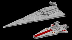 22 Imperial-class Star Destroyer & Republic Venator (Kurt's MOCs) Tags: star starwars lego destroyer imperial wars stardestroyer moc ldd