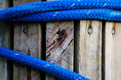 Boat Tie (NDStarrDMD) Tags: wood marina boats boat dock rust nails ropes