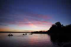Rowers (blachswan) Tags: trees clouds sunrise reflections dawn australia victoria ballarat rowers rowingboat lakewendouree rowingcourse