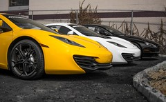 Lined Up (akahn177) Tags: two white black yellow martin faces mc mclaren asphalt aston rubble mp4 combo uploaded:by=flickrmobile flickriosapp:filter=nofilter