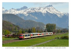 Rbe 540 + train école - Versvey (CC72080) Tags: train sbb colibri cff npz automotrice rbe540 versvey