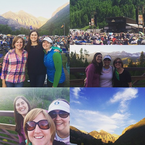 Fantastic weekend at Telluride Bluegrass with Katie Danielson and Katie Haraguchi #ionlytravelwithkatie