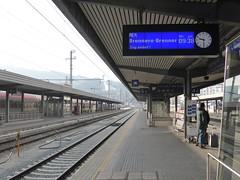 Train spotting at Innsbruck HbF