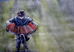 Tango Acordeón (benilder) Tags: tango music acordeon watercolor watercolour aquarelle música acuarela benilde