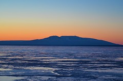 Susitna (Sleeping Lady) from Pt. Woronzoff (steve_scordino) Tags: sunset mountain turnagainarm ocean sea winter alaska tamron70300 anchorage woronzoff susitna sleepinglady