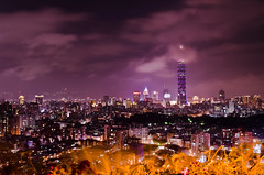 Taipei 101 (FunnyRay(Busy.....)) Tags: city trip travel sunset vacation urban building art nature skyline night skyscraper landscape photography hotel nikon shot nightshot outdoor taiwan 101 taipei taipei101        101   d5100