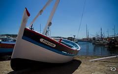 Piou-Piou (Raph/D) Tags: blue red sea sky mer fish france colors saint port french rouge eos boat fisherman riviera sailing little tropez tiny 7d fisher sail cote pecheur catchy peche azur barque pioupiou piou
