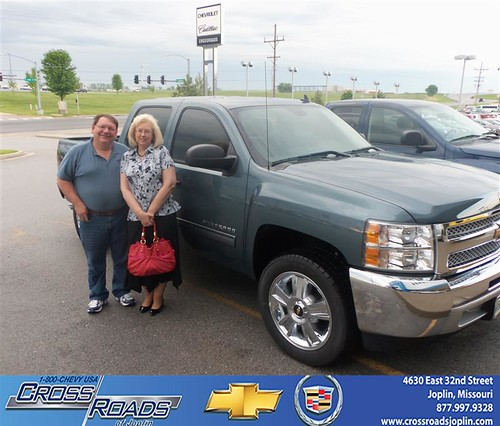 Crossroads Chevrolet Cadillac would like to say Congratulations to Charlene Crane on the 2013 Chevrolet Silverado 1500