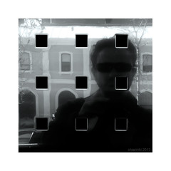 3 x 3 Self-portrait (chapiniki) Tags: street portrait people selfportrait man reflection metal square gente squares geometry retrato reflejo urbana autorretrato hombre reflejos geometria cuadrado geometra geometries