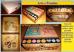 caixa de costura C0136 (ammaneta) Tags: wood artwork arte drawing artesanato burning handicrafts madeira prendas quadros pirogravura pirografia pirography
