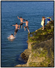 160 of 365 - Leap before you look (fearghal breathnach) Tags: ocean sea sun water swim canon photography photo jump jumping photos dive greystones motioncapture capture helios layering blendedexposure postprocessing frozenmoment swimer stoppingtime fearghalbreathnach helios442 postprocessingeffect httpswwwfacebookcomfergphotos