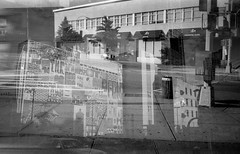 MULTIPLE EXPOSURE (stephen nessen) Tags: park blackandwhite queens rockaway contaxg2