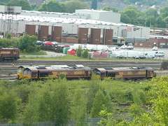 66620 66056 66092 Toton 08/06/2013 (37686) Tags: 5 66 class type tug 60 midlands ews toton railfreight dbschenker