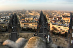 First TiltShift (MaeveMiauxphotos) Tags: city paris canon de landscape miniatures miniature place arc triomphe citylife shift tilt arcdetriomphe bigcity tiltshift canonusers ltoile canon7d