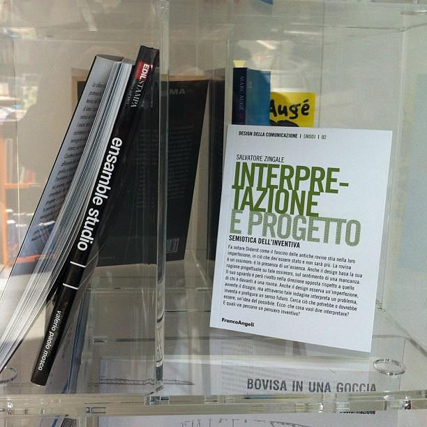 Piccole soddisfazioni in libreria. (1) #interpretazioneeprogetto