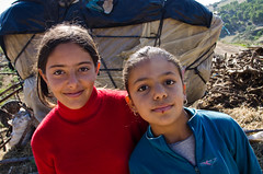 Two cousins from the village of Chaabniya (World Bank Photo Collection) Tags: poverty girls portrait people smile look smiling looking tn northafrica tunisia countries development gender worldbank elkef socialdevelopment