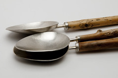 Driftwood Spoons (Made by Grant McCaig) Tags: silver for tea contemporary grant scottish driftwood mad spoons silversmithing mccaig