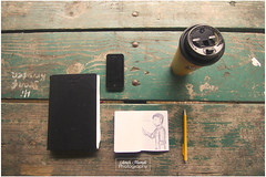 My morning set up (Amir Hamdi) Tags: summer coffee pencil canon notebook table rebel design sketch wooden picnic graphic wide sketchbook tokina ultrawide f28 iphone 550d t2i 1116mm