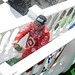 Scott Dixon sprays the champagne in Victory Lane
