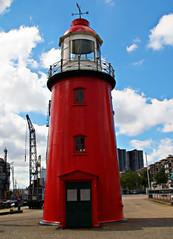 Lighthouse in the Museums-Harbour of Rotterdam, Netherlands (Andy von der Wurm) Tags: lighthouse holland netherlands museum port harbor rotterdam europa europe harbour nederland hafen leuchtturm niederlande zuidholland hobbyphotograph sdholland suedholland andreasfucke andyvonderwurm