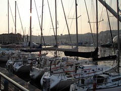 . (Kate Hedin) Tags: ocean sunset sea italy sun water port boat dock mediterranean ship genoa genova