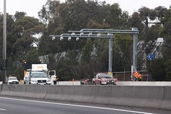 New speed cameras installed over the inbound lanes of the Monash Freeway (Marcus Wong from Geelong) Tags: road driving australia melbourne victoria freeway speedcamera motoring monashfreeway roadsafetycamera