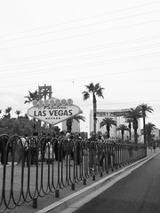Welcome to Fabulous Las Vegas! (wwarby) Tags: america california lasvegas us usa vegas welcometofabulouslasvegas abroad blackandwhite clouds cloudy family flower holiday holiday2013usa outdoors plant railings road sign sky street tree vacation westcoast