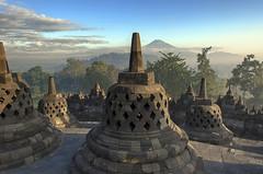 Borobudur (Fil.ippo) Tags: panorama history indonesia temple java ancient buddha buddhism hdr filippo borobudur magelang tempio giava d7000 filippobianchi