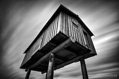 LightShed (Alexis Birkill Photography) Tags: blackandwhite clouds cloudy art humid sculpture marina movement monochrome longexposure vancouver fineart lightshed coalharbour coalharbor bigstopper lizmagor harbour harbor bc britishcolumbia canada