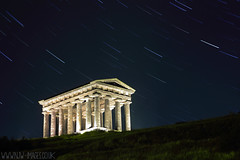 penshaw stars (N.J.W Images) Tags: longexposure sky stone night stars 50mm star washington hill trails gateshead nighttime acropolis comet skyatnight comets startrails darksky greektemple penshawmonument canon550d starstax starstaxpenshaw njwimages