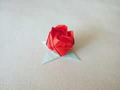 Rose - Toshikazu Kawasaki (Origami by Robin) Tags: flower rose paper origami folding toshikazukawasaki