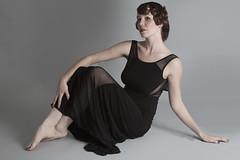 Ame (austinspace) Tags: portrait woman studio washington spokane underwear lingerie retro redhead actress pinup alienbees