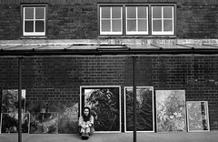 Commission Archives: Portraits of Artists (..) (Pictures from the Ghost Garden) Tags: blackandwhite bw sculpture art film monochrome portraits 35mm blackwhite documentary olympus artists hp5 analogue ilford om2 westmidlands blackcountry blancetnoir