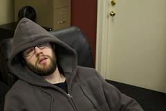 TFD: 022 (Tylerbomb) Tags: sleeping self work beard office hoodie sleep dirty flourescent hood 365 flirty scruff thirty