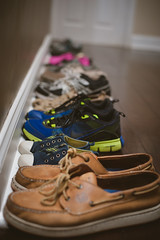 Little Big Feet (Daniel A Ruiz) Tags: wood old colors wall big floor little bokeh used size shows laces d700