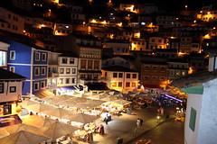 Plaza de Cudillero (margabel2010) Tags: espaa spain asturias plazas pueblos cudillero restaurantes bares anocheceres focos toldos pueblosdeespaa