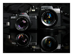 Pro1-0005-Auto (ac | photo) Tags: camera reflection film blackbackground vintage studio pentax 110 commercial filmcamera product pentaxauto110 110format tabletopphotography pentaxes