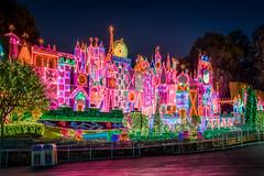 A Small World Glow (Justin in SD) Tags: christmas holiday night canon dark lights disneyland decoration christmaslights canon5d hdr disneylandresort 32bit itsasmallworldholiday canon5dmarkiii 5d3 5dmark3 32bithdr
