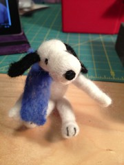 Felted Snoopy (wickedbear) Tags: madeit uploaded:by=flickrmobile flickriosapp:filter=nofilter
