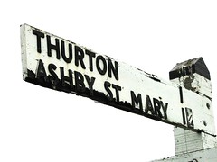 That Way (dannyboyx) Tags: village highkey signpost berghapton bergh apton thurton ashbystmary