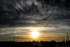 January Sunset (aaron_eos_photography) Tags: winter sunset sky sun nature clouds photoshop canon skyscape january adobe 7d cloudscape lightroom canonef24105mmf4lisusm lightroom5
