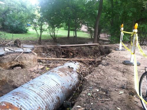 Photo - Gregory Canyon Creek Flood Damage