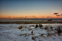 Barren Beach.jpg (Milosh Kosanovich) Tags: winter sunset snow chicago ice wideangle northavenuebeach nikkor24mmpce chiberia d800e miloshkosanovich mickchgo chicagophotographicart