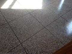 Epoxy Tile Color Chip Flooring - Dayton OH (Decorative Concrete Kingdom) Tags: ohio brown black color tile flake epoxy chip flooring dayton seamless coating resurface