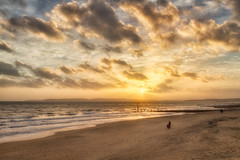 ocean family sunset sea dog sun beach sunshine clouds... (Photo: tommyscapes on Flickr)