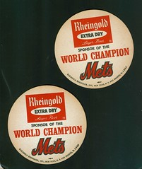 world beer bar baseball champion mets memorabilia coasters rheingold
