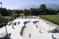 Skating-Park, in Vaduz, Liechtenstein