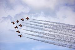 Singapore Airshow 2014 ROKAF Black Eagles, South Korea (gintks) Tags: singapore display formation southkorea aerobatics singaporetourismboard asiasbiggestforaviationsfinest