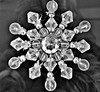 radial ornament (LivFree) Tags: snowflake blackandwhite snow abstract texture geometric contrast beads crystal shapes objects symmetry ornament refraction rays form radial hipbotunsquare